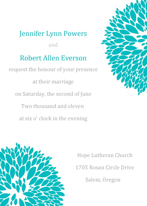 Formal How to write Invitation Card
