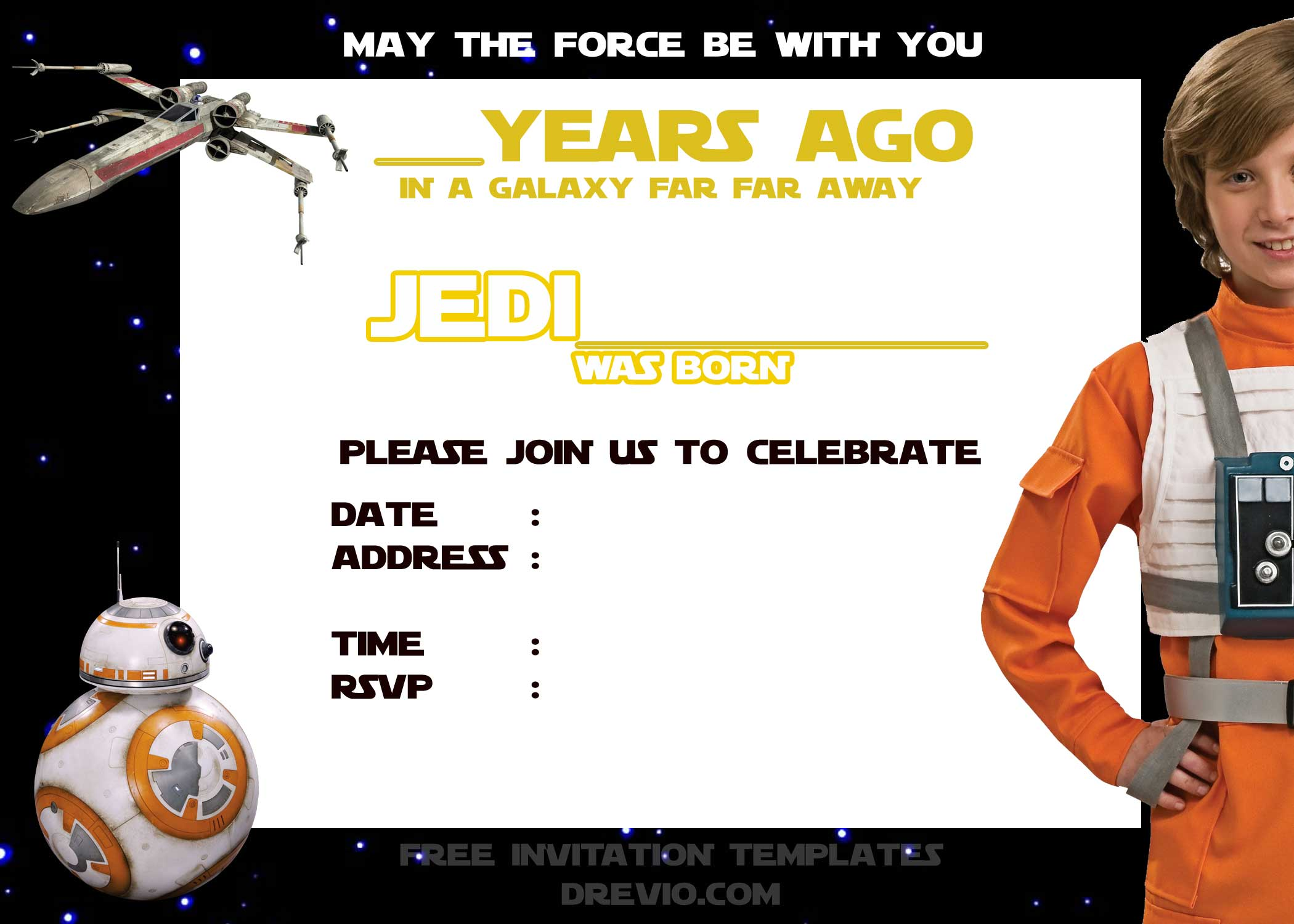 Star Wars Party Invites with best invitation sample