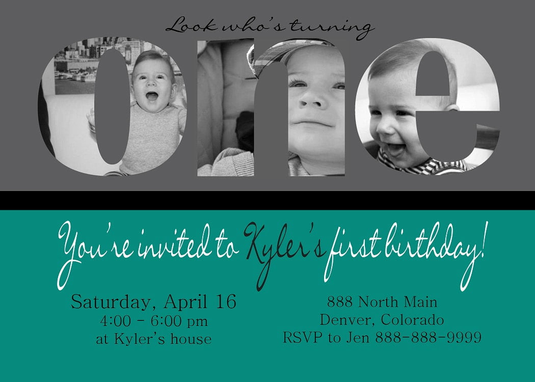 Baby Boy First Birthday Invitation Wording Ideas