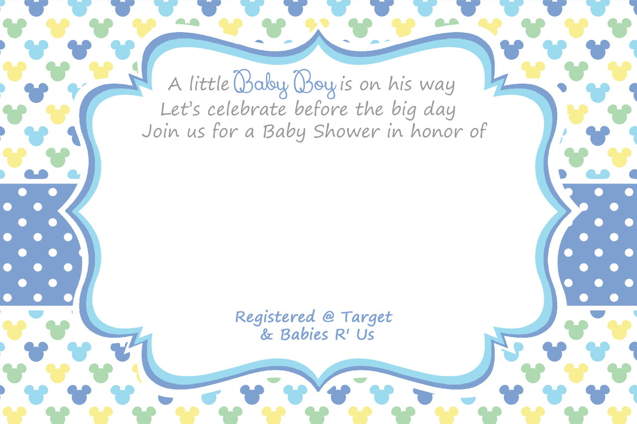 Baby Boy Christening Blank Invitation Template - Free ...