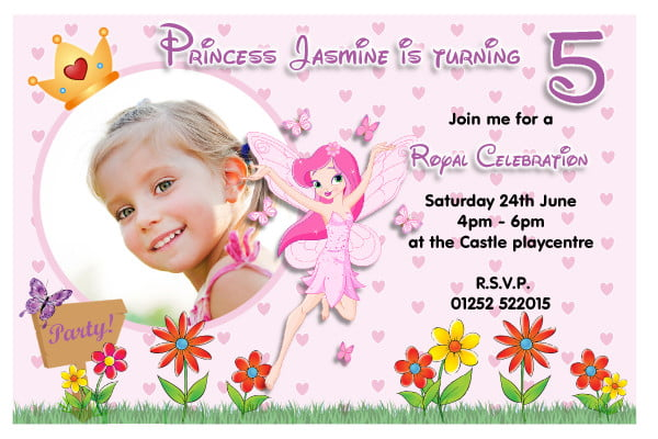 Custom Photo Birthday Invitation Wording For Kids