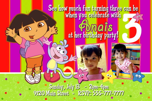 Dora the explorer birthday invitation wording ideas free dora the explorer birthday invitation wording ideas filmwisefo