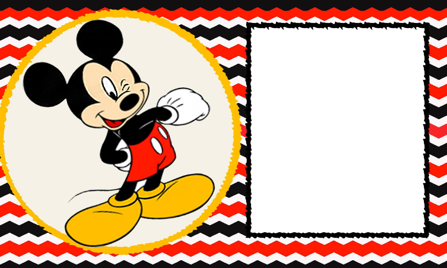 FREE Printable Mickey Mouse St Birthday Invitations Template - Mickey mouse 1st birthday invitations template