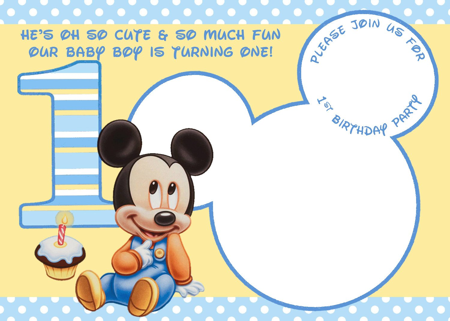 Personalized Mickey Mouse Clubhouse 1st Birthday Invitations Water Bottle Label FREE To Download