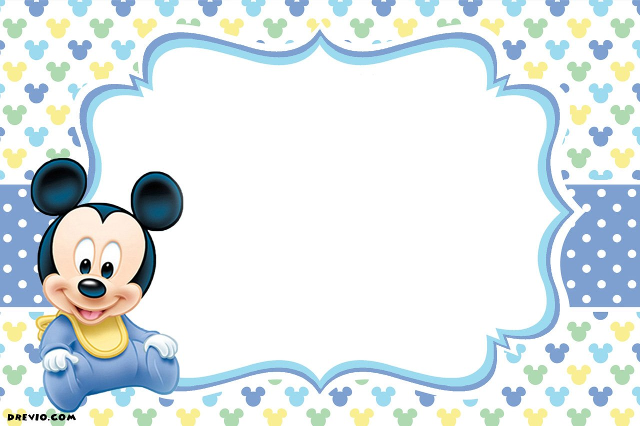 Birthday Invites: Captivating Mickey Mouse 1st Birthday
