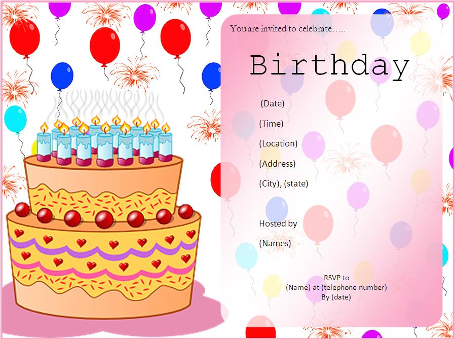 Free Birthday Party Invitation Templates – Birthday Invitations Cards Designs