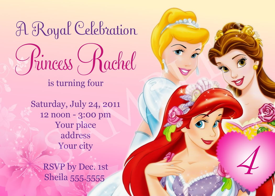 birthday party invitation templates invitations design disney princess birthday party invitation templates