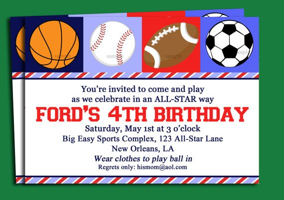 Blank Free Printable Birthday Invitations For Boys – Free Printable Sports Birthday Invitations