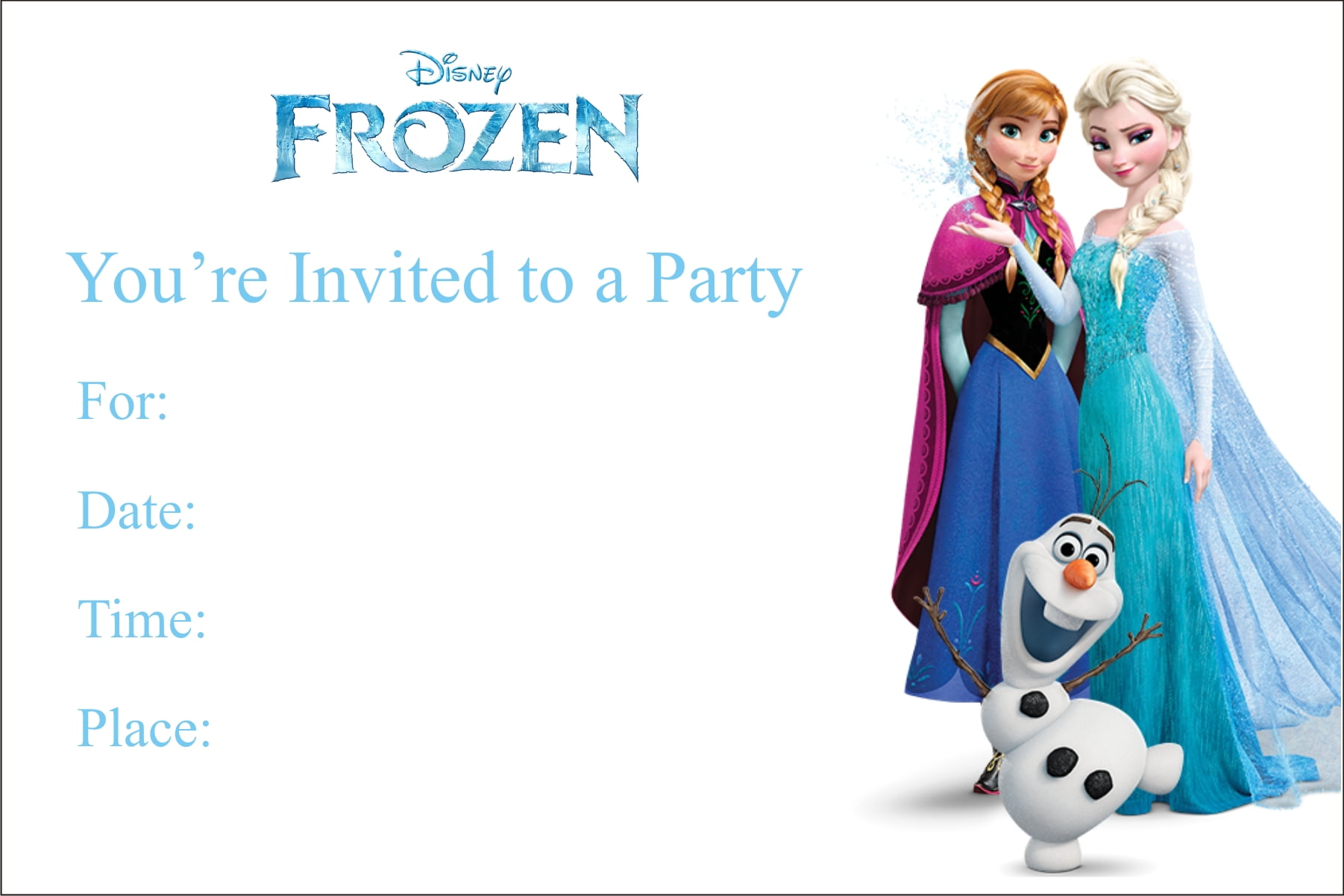 printable birthday party invitations drevio invitations design printable frozen birthday party invitations
