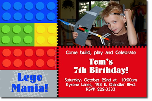 Free Printable Lego Birthday Invitations | Drevio Invitations Design