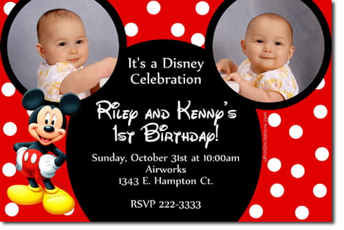 image about Free Printable Mickey Mouse Birthday Invitations identified as Mickey Mouse Clubhouse 1st Birthday Invites - Totally free