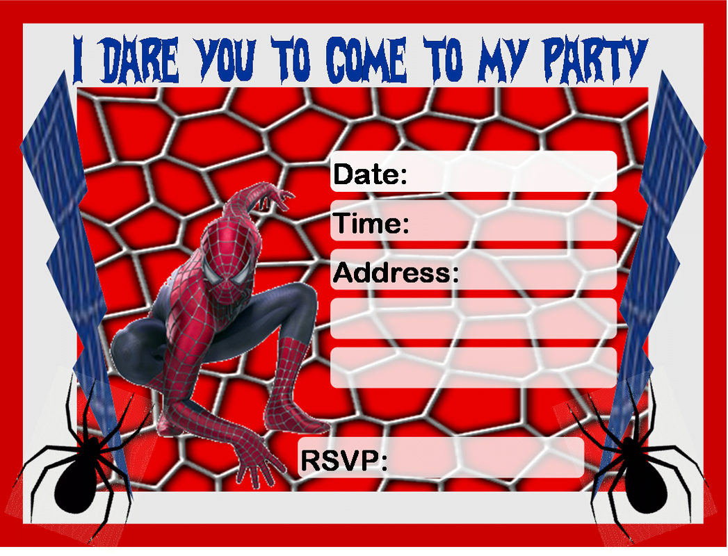 birthday invitations to print drevio invitations design printable spiderman birthday invitations to print