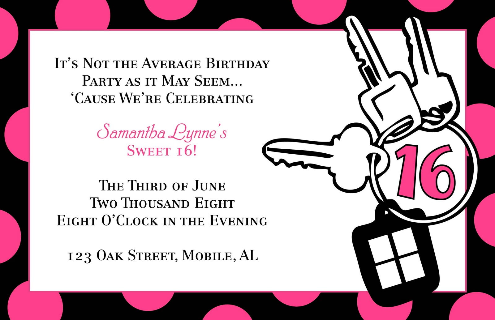 Free Templates Sweet Sixteen Birthday Invitation  Free Birthday Template Invitations