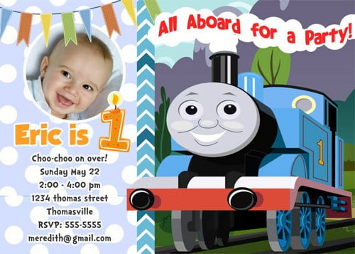 Free Thomas The Train Birthday Party Invitation To Print