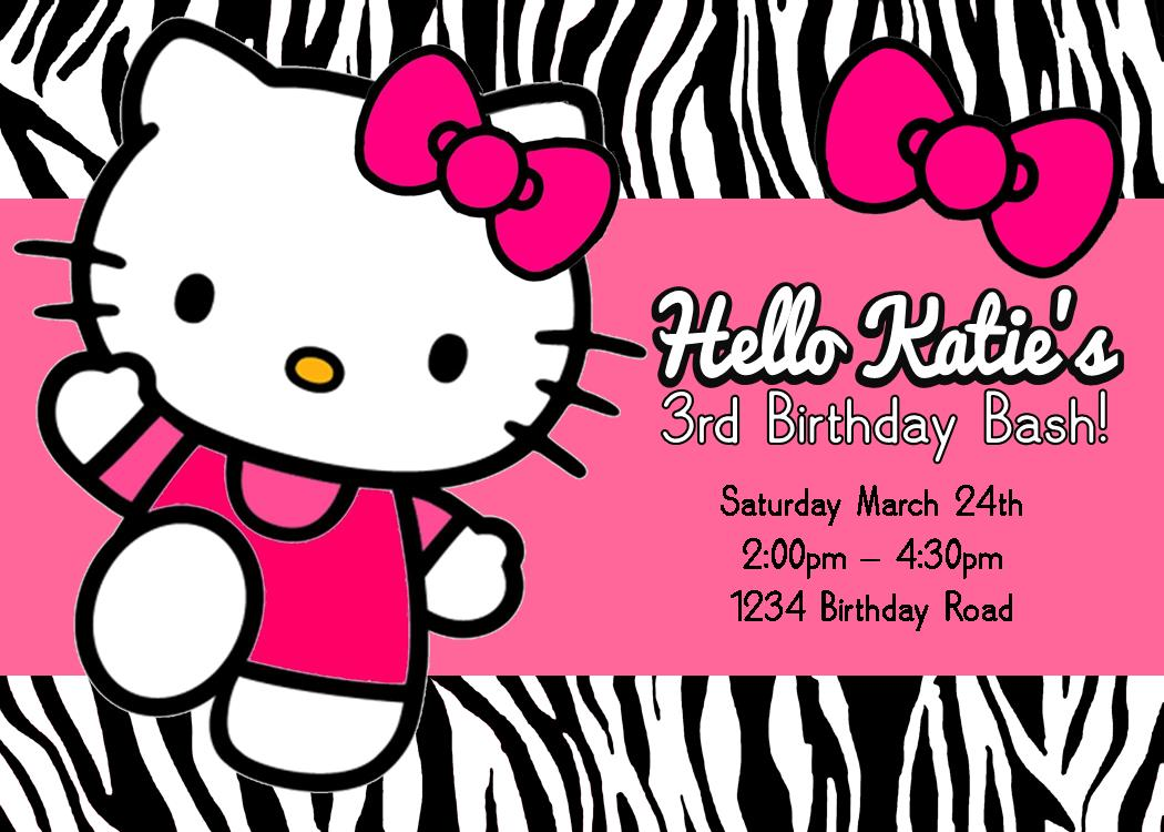 Free Printable Hello Kitty Birthday Party Invitations ...