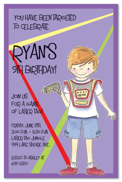 laser tag birthday party invitation wording ideas  u2013 free