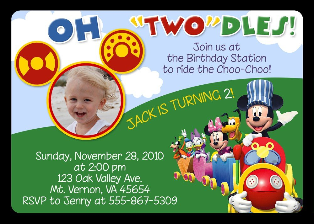 Mickey Mouse Clubhouse Birthday Invitation Ideas