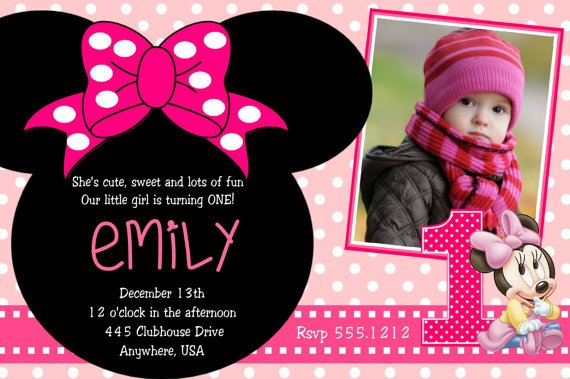 Minnie Mouse 2nd Birthday Party Invitation Wording Drevio