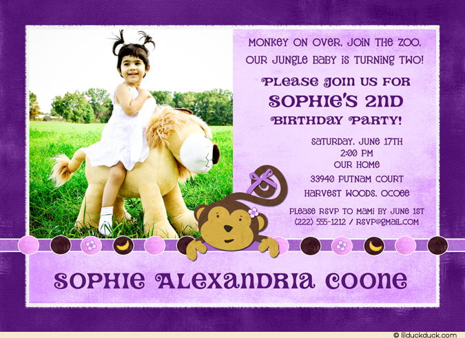 2nd Birthday Party Invitation Wording Drevio Invitations Design