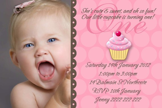 baby girl 1st birthday invitations | drevio invitations design, Birthday invitations