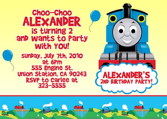 Attractive Thomas The Train Birthday Invitation Ideas ...