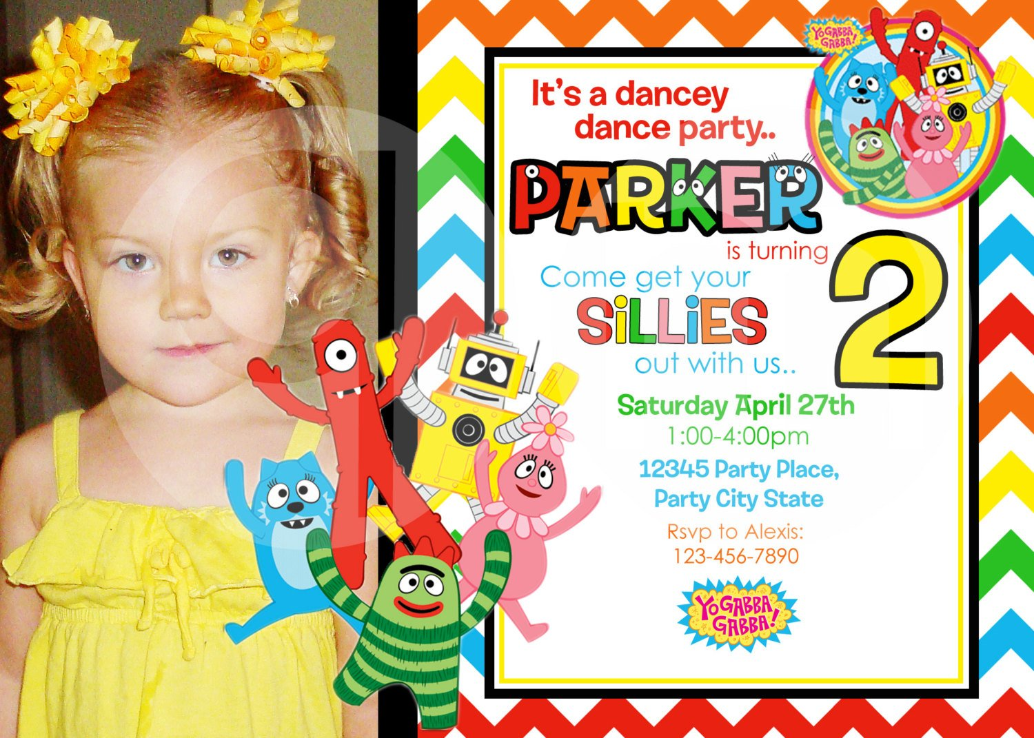Yo Gabba Gabba Birthday Invitation Templates For Girls