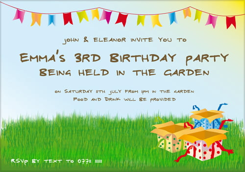 Birthday Invitation Wording For Kids – Kids Birthday Party Invite