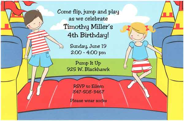 Birthday Invitation Wording For Kids – Birthday Party Invitation Words