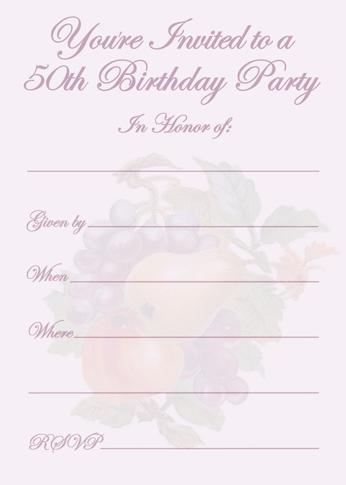 th birthday party invitation templates invitations design elegant 50th birthday party invitation template