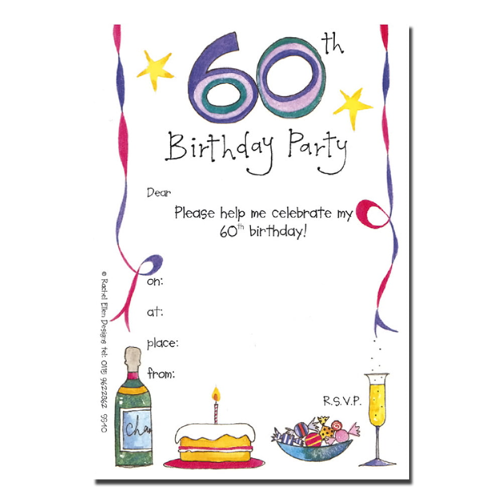 Invitation Templates For 60th Birthday Party. 60th birthday party ...