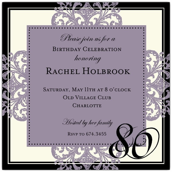 elegant birthday party invitations templates