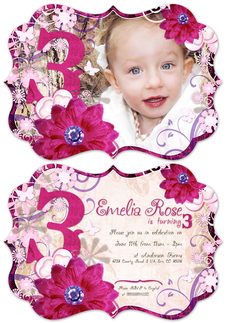 3 Year Old Birthday Party Invitation Wording – 3 Year Old Birthday Invitation
