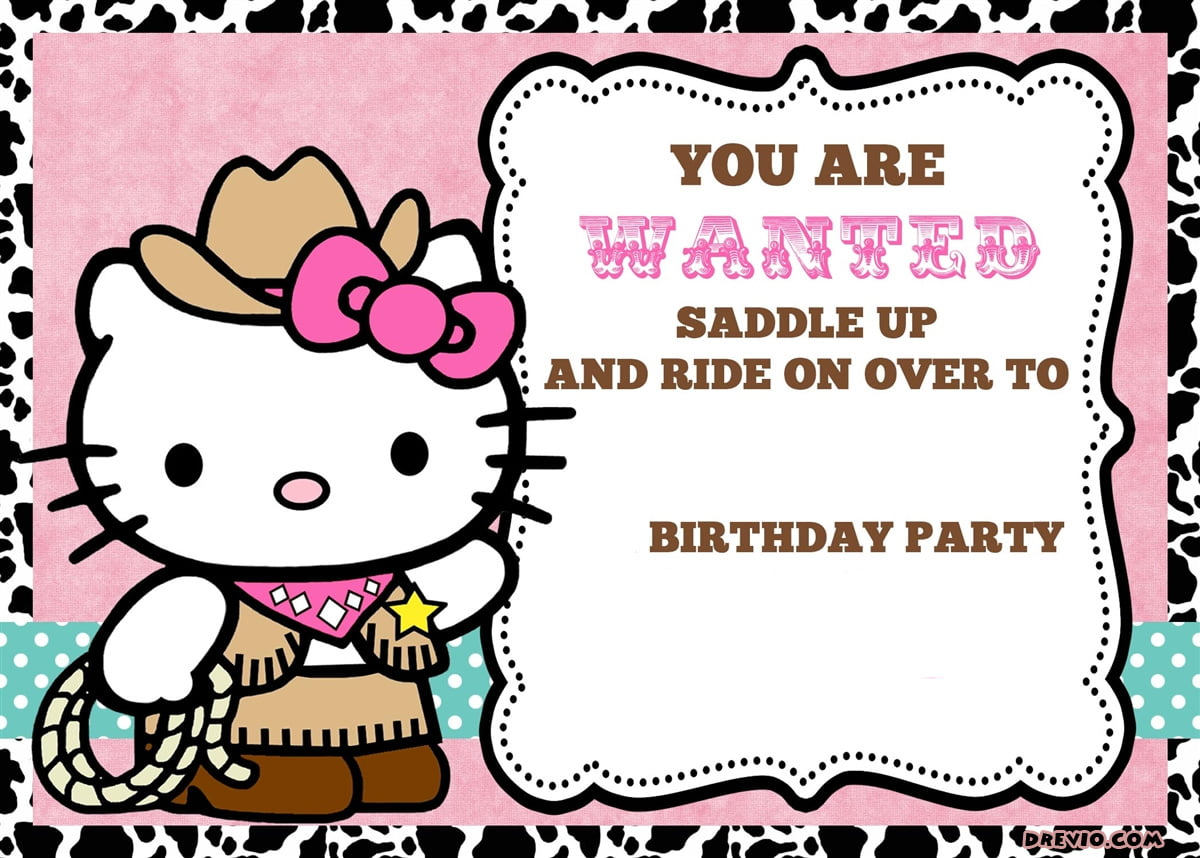 Personalized Hello Kitty Birthday Invitations Updated