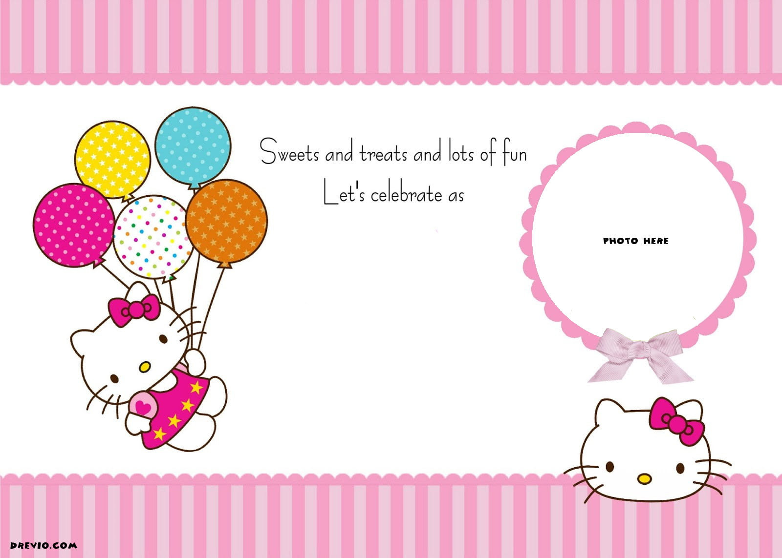 FREE Personalized Hello Kitty Birthday Invitations Drevio - Free hello kitty birthday invitation templates