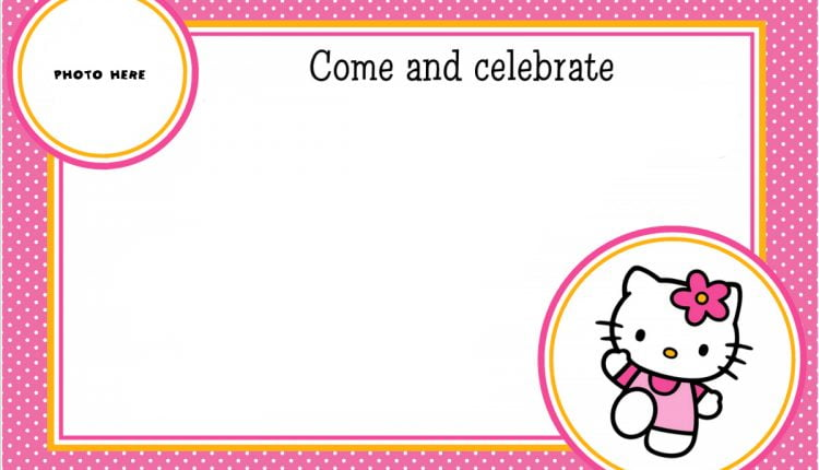 hello kitty mask template - free printable hello kitty photo invitation template