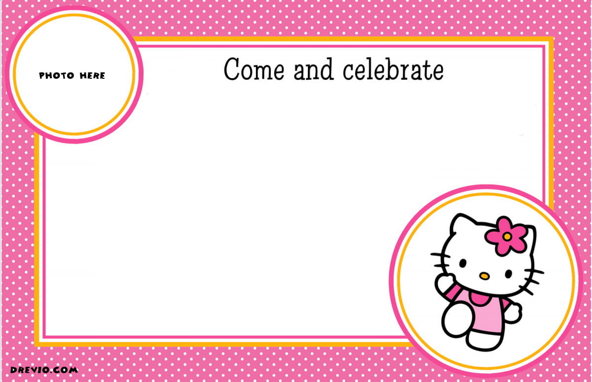 Hello Kitty Birthday Invitation Card is awesome invitation design