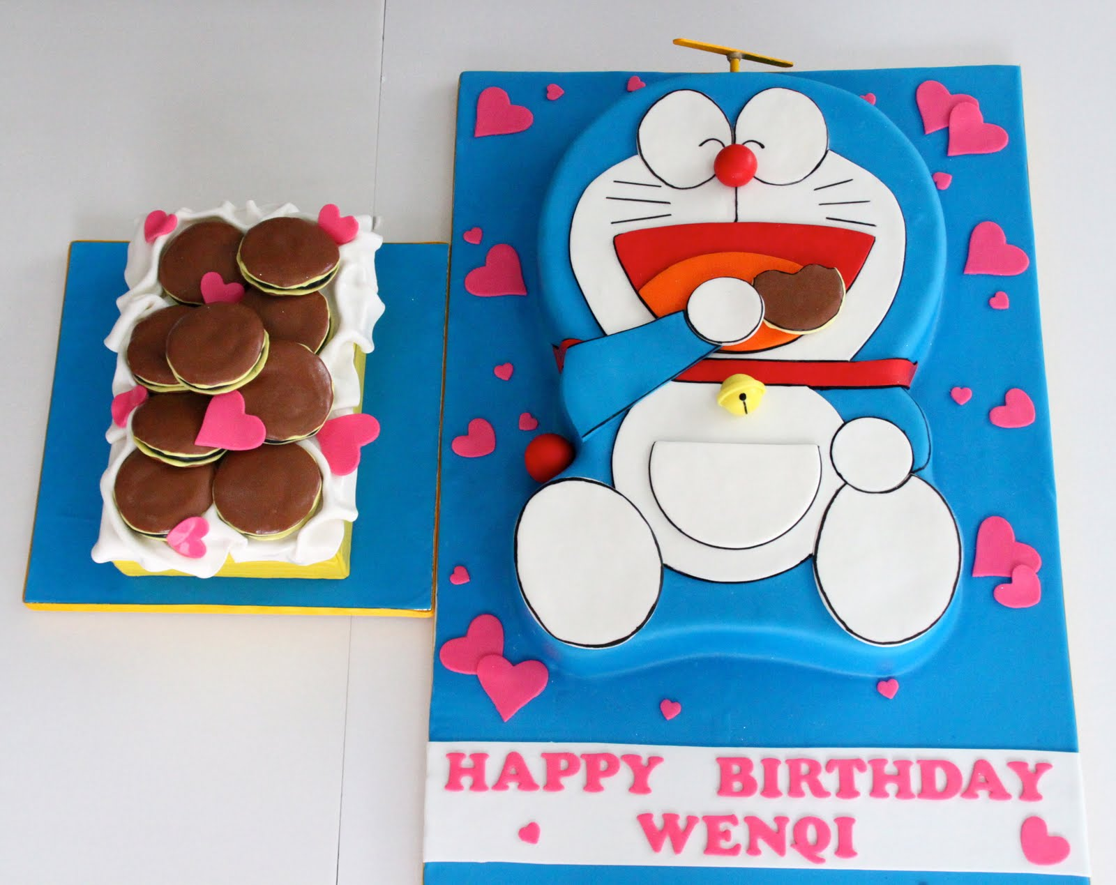 Doraemon Cake Birthday Party Invitations