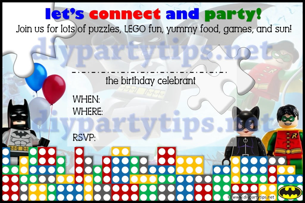 llego birthday invitations printable free templates