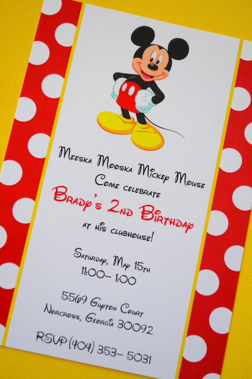 Mickey Mouse Birthday Invitations Ideas and Template | Drevio ...