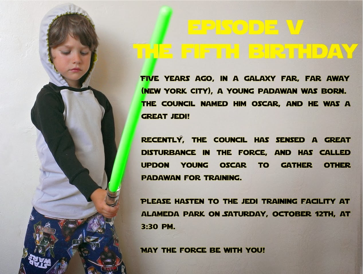 Star wars card birthday promo invitations