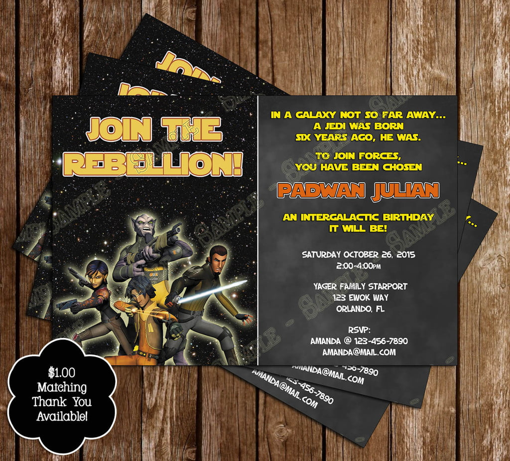 Star Wars Invitation Concept