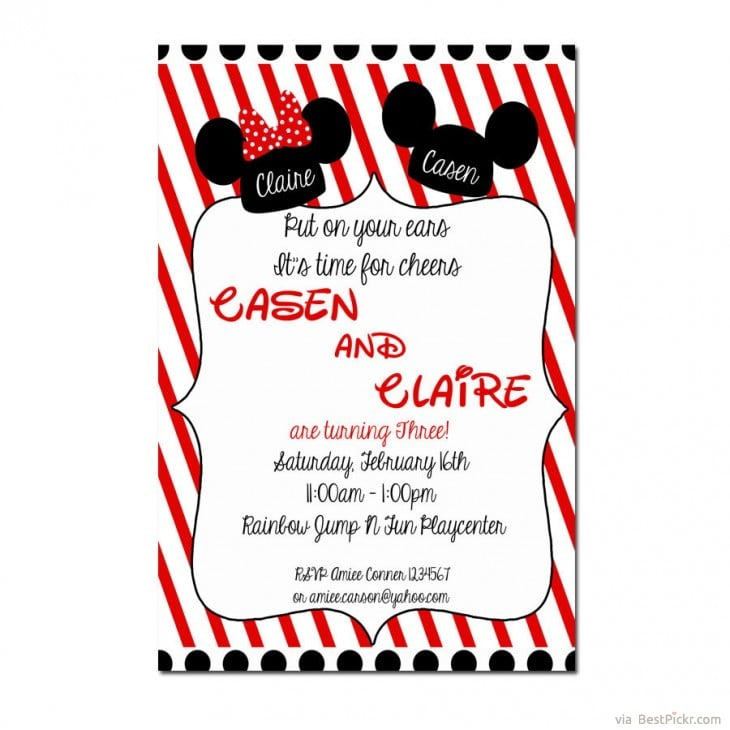 Free Minnie Mouse Birthday Email Invitation Orderecigsjuiceinfo - Wedding invitation templates: disney wedding invitation templates