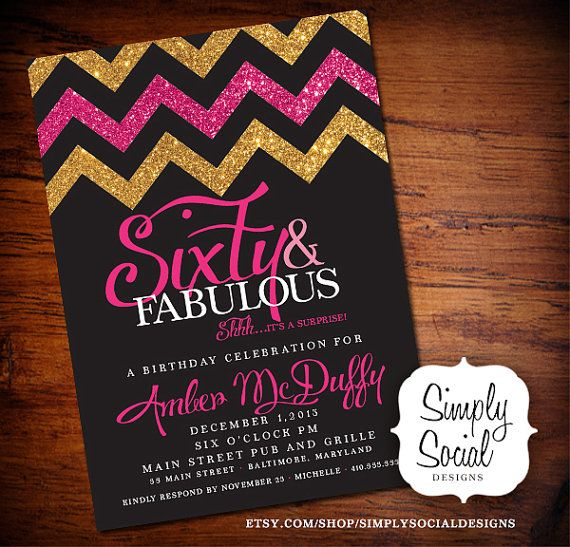 60th Birthday Invitations For Mom
