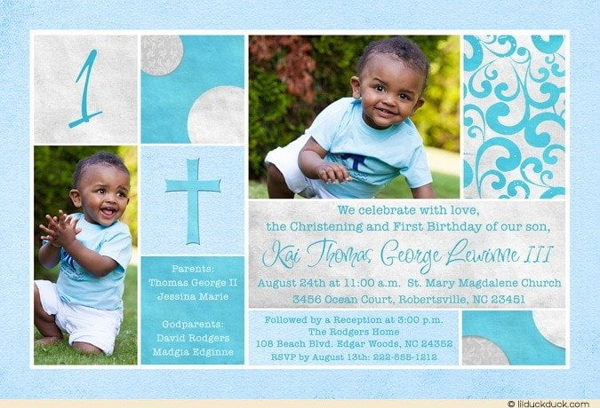 Free printable first birthday and baptism invitation template free sacred 1st birthday and baptism invitations filmwisefo