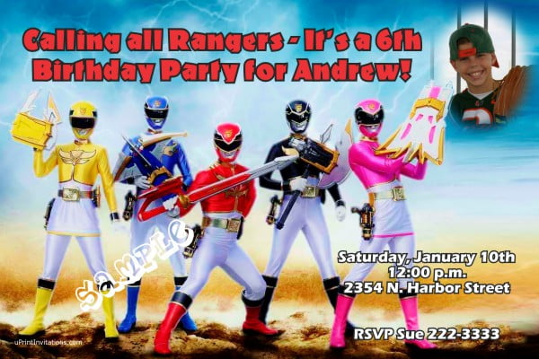 funny rangers first birthday party invitations boy