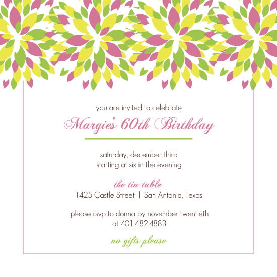 Free Printable 60th Birthday Invitations For Mom Drevio
