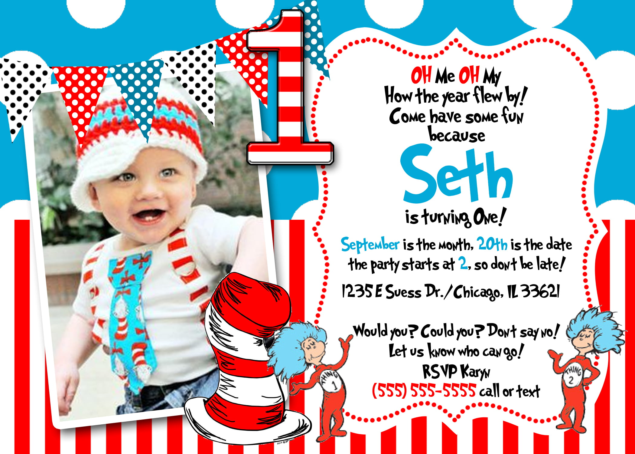 Dr seuss birthday invitations wording free invitation templates photo dr seuss birthday invitations wording stopboris Images