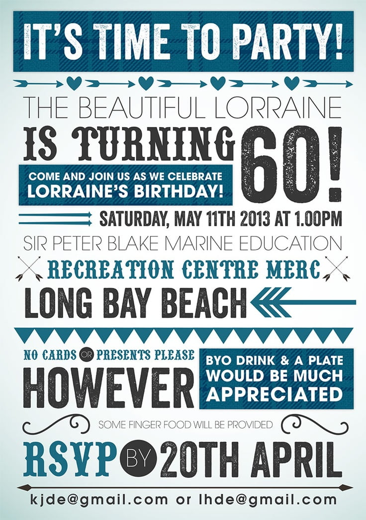 60Th Invitation Ideas as awesome invitations ideas