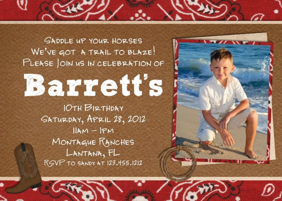 free printable cowboy birthday invitations | drevio invitations design, Birthday invitations