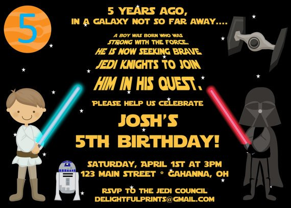 Star wars invitation card